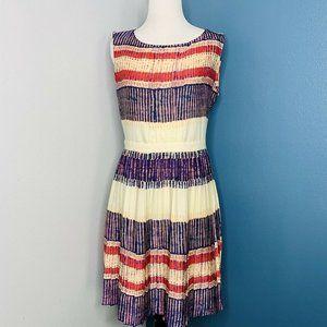 Rachel Roy Multicolored Pleated Dress Size 4